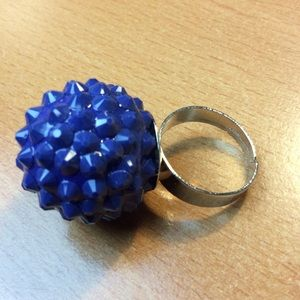 Jewelry - New Blue and Silver Adjustable Ring